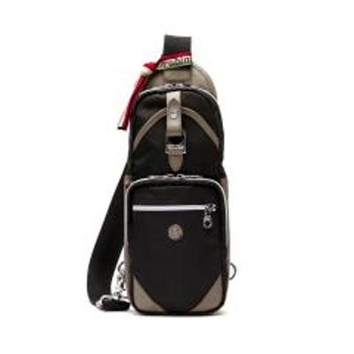 オロビアンコ【日本正規品】オロビアンコ ボディバッグ Orobianco バッグ ANNIBALE-F 01 斜めがけ 縦型 ワンショルダーバッグ ナイロン 本革 ブランド メンズ 92161 ブラック(01)