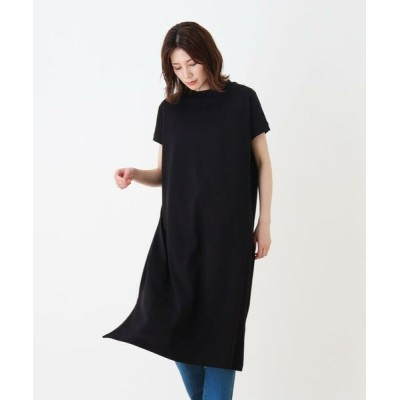 SHOO・LA・RUE/シューラルー 綿混プチハイネックワンピース ブラック(019) 03(L)