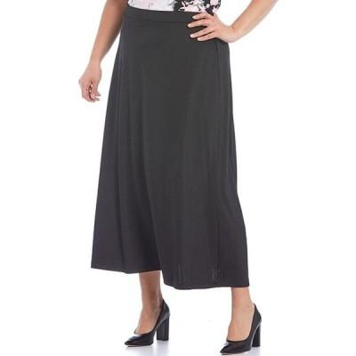 カスパール レディース スカート ボトムス Plus Size Pull-On Ribbed Maxi Skirt