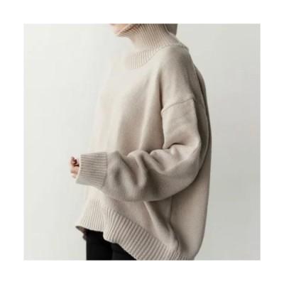 タートルネックセーター レディース ファッション セーター ハイネック トップス タートルネック  送料無料