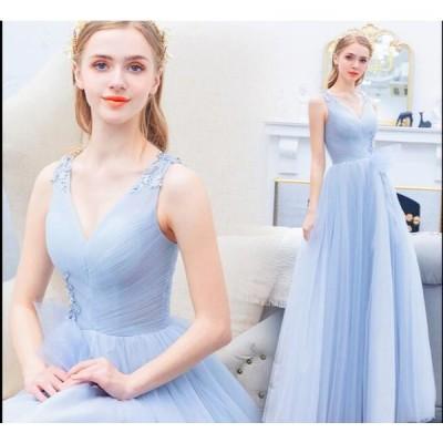 送料無料 ウェディングドレス パーティードレス二次会 結婚式 披露宴 司会者 舞台衣装 イブニングドレス