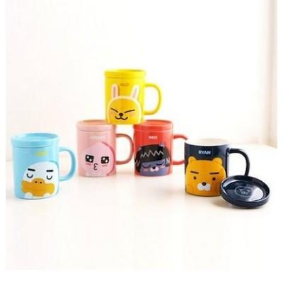 [カカオフレンズ]シグノチョマグカップ(ふたを含む)330ml/カラーカップ/韓国産/食器/ドジャジェ/プレゼント/Ryan Apeach Muzi /カップ/タンブラー/マグカップ/ギフト
