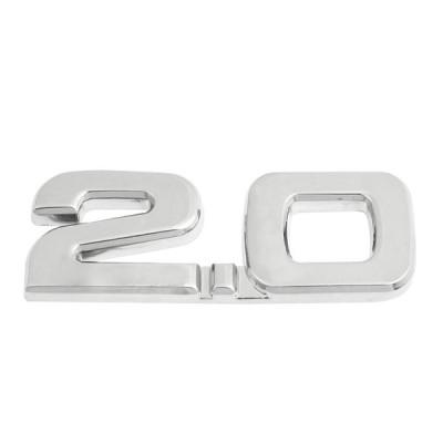 uxcell 車のバッジステッカー 合金 2.0デカール エンブレム 3D ステッカー バッジ 装飾 車自動車用