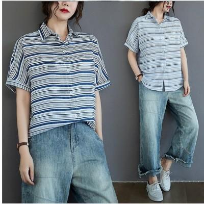 春夏新作 ファッション/人気ワイシャツ ライトブルー/ダークブルー2色展開