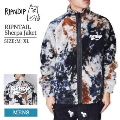 RIPN DIP リップンディップ ボアジャケット アウター ジャケット コート メンズ レディース スケートボード タイダイ RIPNTAIL Sherpa Jaket Jacket RND4511