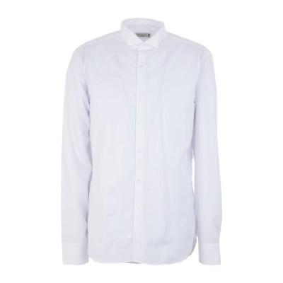 MANUEL RITZ マニュエルリッツ 無地シャツ ファッション  メンズファッション  トップス  シャツ、カジュアルシャツ  長袖 ホワイト