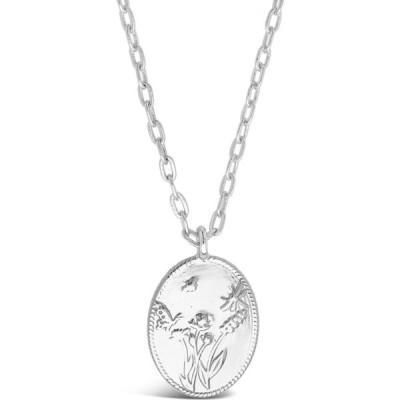スターリング フォーエバー STERLING FOREVER レディース ネックレス ジュエリー・アクセサリー Engraved Garden Pendant Necklace Silver
