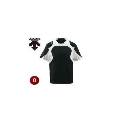 DESCENTE/デサント  DB115-BKSG ベースボールシャツ 【O】 (ブラック×Sホワイト×Sゴールド)