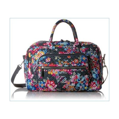 Vera Bradley Signature Cotton Compact Weekender Travel Bag, Pretty Posies並行輸入品