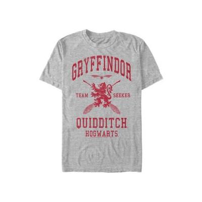 フィフスサン メンズ Tシャツ トップス  Harry Potter Gryffindor Quidditch Seeker Graphic T-Shirt
