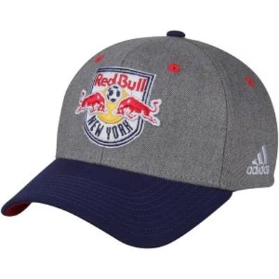 アディダス メンズ 帽子 アクセサリー New York Red Bulls adidas Two-Tone Structured Adjustable Hat Gray/Navy