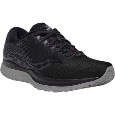 サッカニー メンズ スニーカー シューズ Guide 13 Running Sneaker Blackout Engineered Mesh