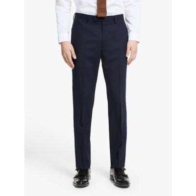 キン カジュアルパンツ メンズ ボトムス Kin Bengaline Wool Slim Fit Suit Trousers, Navy