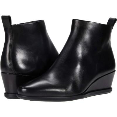 エコー ECCO レディース ブーツ ショートブーツ ウェッジソール シューズ・靴 Shape 45 Wedge Ankle Boot Black Cow Leather