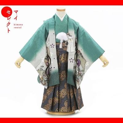 七五三 着物 3歳 レンタル 男の子 レンタル衣装 袴セット フルセット 753 msb3_0011