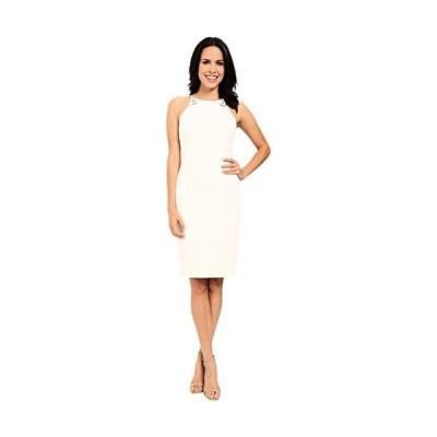 バッジェリーミシュカ ドレス Badgley Mischka コレクション レディース Lattice Back Column ドレス Ivory