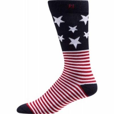 フットジョイ FootJoy メンズ ゴルフ ProDry Stars and Stripes Crew Golf Socks Red/White/Blue