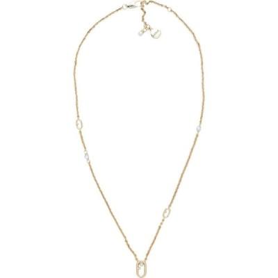 フルラ FURLA レディース ネックレス ジュエリー・アクセサリー pearl f-link necklace Gold