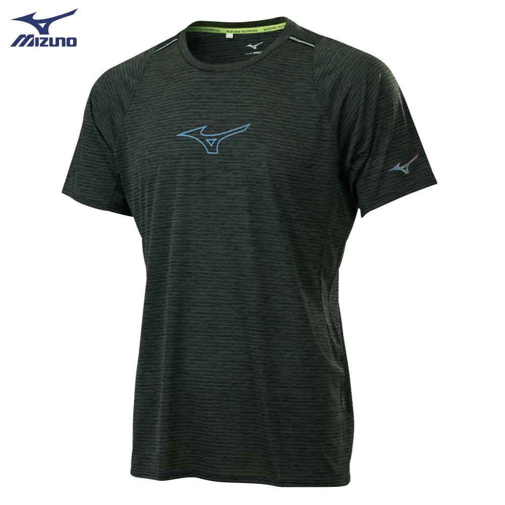 【美津濃MIZUNO】男款路跑短袖T恤 J2TA100809(黑灰)