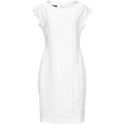 BOUTIQUE MOSCHINO ミニワンピース&ドレス ホワイト 38 ナイロン 95% / 指定外繊維 5% ミニワンピース&ドレス