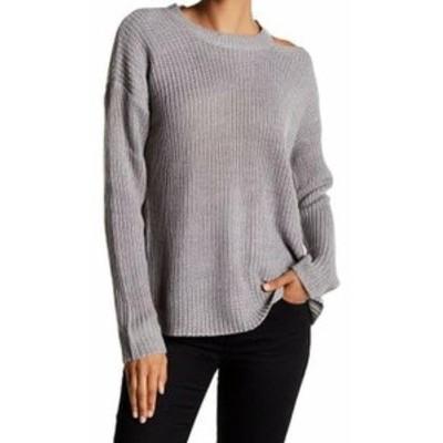 ファッション トップス RDI NEW Gray Womens Size XL Crewneck Cutout Waffle Knit Sweater