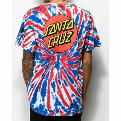 サンタクルーズ SANTA CRUZ SKATE メンズ Tシャツ トップス Santa Cruz Classic Dot Union Jack Tie Dye T-Shirt Assorted