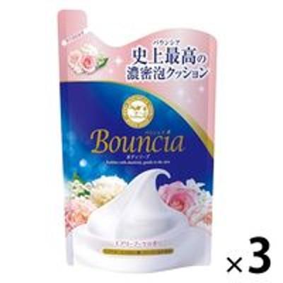 牛乳石鹸共進社バウンシア ボディソープ エアリーブーケの香り 詰め替え 400ml 3個 牛乳石鹸共進社
