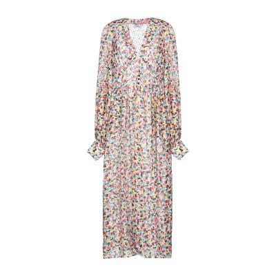 アティコ THE ATTICO ロングワンピース&ドレス ホワイト 44 シルク 70% / ポリエステル 30% ロングワンピース&ドレス