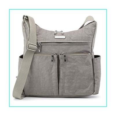 【新品】MHCNLL Anti Theft Crossbody Purse,RFID Women Nylon Waterproof Shoulder Bag (gray)(並行輸入品)