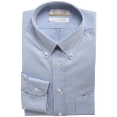 ランドツリーアンドヨーク メンズ シャツ トップス Gold Label Roundtree & Yorke Non-Iron Full-Fit Button-Down Collar Solid Dress Shirt Blue