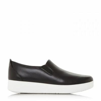デューン Dune レディース スリッポン・フラット シューズ・靴 sania skate sneaker slip on shoes Black