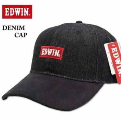 大きいサイズ EDWIN エドウィン デニムキャップ ブラック 3L相当/60~63cm IW-21ED-C50B-BLK