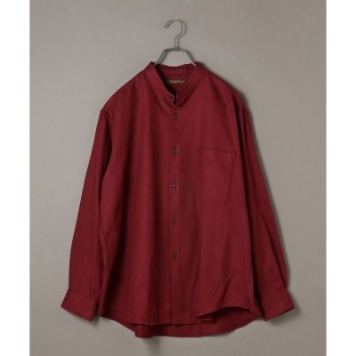 シャツ ブラウス BENCH MARKING SHIRTS: ビッグシルエット リプロダクション バンドカラー シャツ