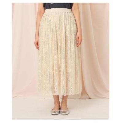 Couture Brooch(クチュールブローチ)【洗える】チュールレースプリーツスカート