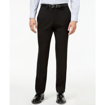ケネスコール カジュアルパンツ ボトムス メンズ Men's Slim-Fit Stretch Gabardine Dress Pants Black