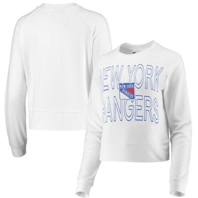 コンセプツ スポーツ レディース Tシャツ トップス New York Rangers Concepts Sport Women's Colonnade Raglan Long Sleeve T-Shirt White