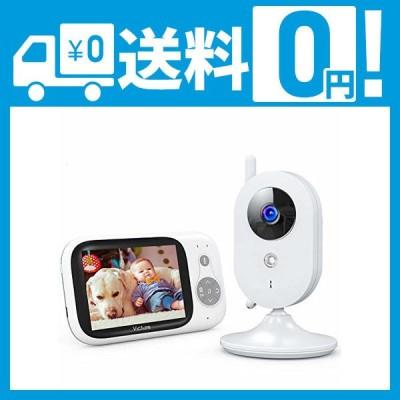 ベビーモニター 遠隔監視 双方向音声通信 カメラ 見守りカメラ 暗視機能付き 子守唄内蔵 多機能付き 360度回転 日本語取扱説明書付