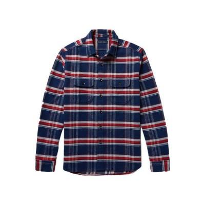 ALEX MILL チェック柄シャツ ファッション  メンズファッション  トップス  シャツ、カジュアルシャツ  長袖 ダークブルー