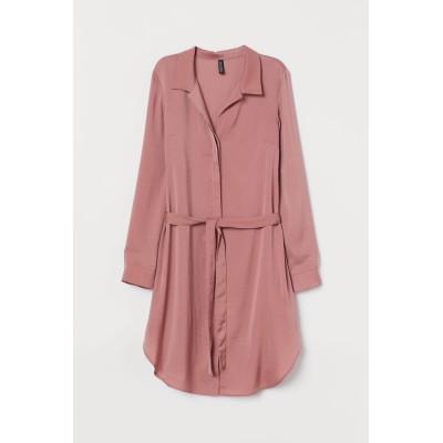 H&M - ショートシャツドレス - ピンク