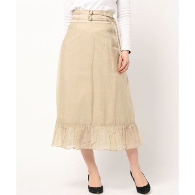 スカート シアーレイヤードナロースカート