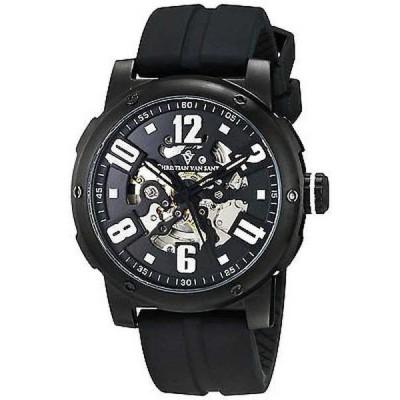 腕時計 クリスチャンヴァンサント Christian Van Sant メンズ CV6131 'スケルトン' オートマチック ブラック ラバー 腕時計