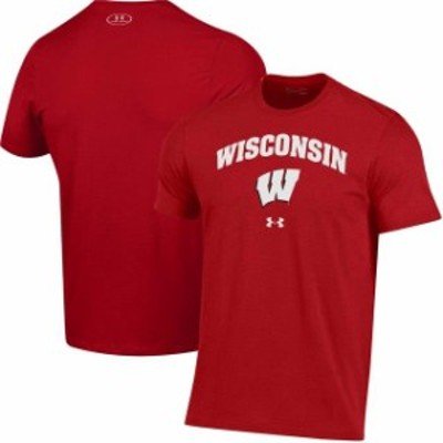 Under Armour アンダー アーマー スポーツ用品  Under Armour Wisconsin Badgers Red Arched Performance T-Shirt