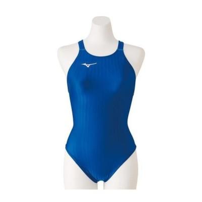 ミズノ 競泳用ミディアムカット(レースオープンバック)[レディース] 27&nbspブルー(n2ma022327)