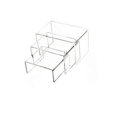 特別価格Clear Acrylic Display Risers, Showcase Shelf for Jewelry,Figures, Buffets a好評販売中