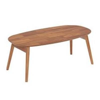折れ脚テーブル センターテーブル 楕円形 カントリー調 Bricky 幅90cm(  テーブル ローテーブル 折りたたみテーブル ちゃぶ台 座卓 楕円型 木製 折り畳みテーブル コーヒーテーブル だ円 アカシア材 )
