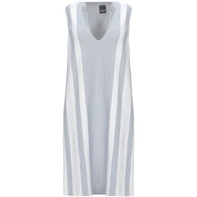 LORENA ANTONIAZZI ミニワンピース&ドレス グレー 42 ナイロン 100% / 金属 / ナイロン ミニワンピース&ドレス
