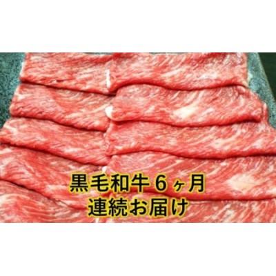 熊本県産 黒毛和牛 すき焼き用 500g【6回定期便】