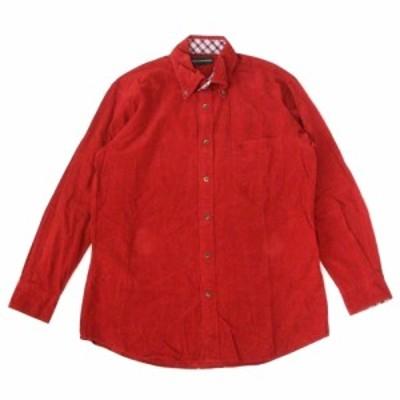 美品 THE SCOTCH HOUSE ザ スコッチハウス ボタンダウンシャツ (赤 長袖) 104650【中古】