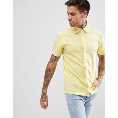 ブーフーマン メンズ ポロシャツ トップス boohooMAN Regular Fit Pique Shirt In Yellow
