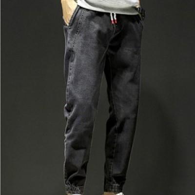 デニムパンツ メンズ 春秋 ボトムス ゆったりパンツ 大きいサイズ カジュアル ジーンズ ジーパン オシャレデニムパンツ